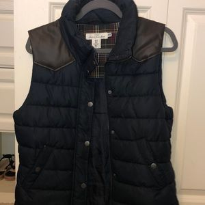Blue and brown puffer vest! Very heavy and warm